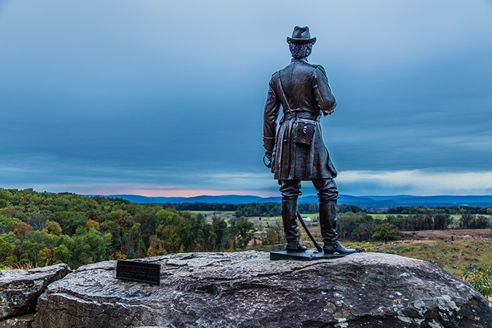 Sunset at Little Round Top