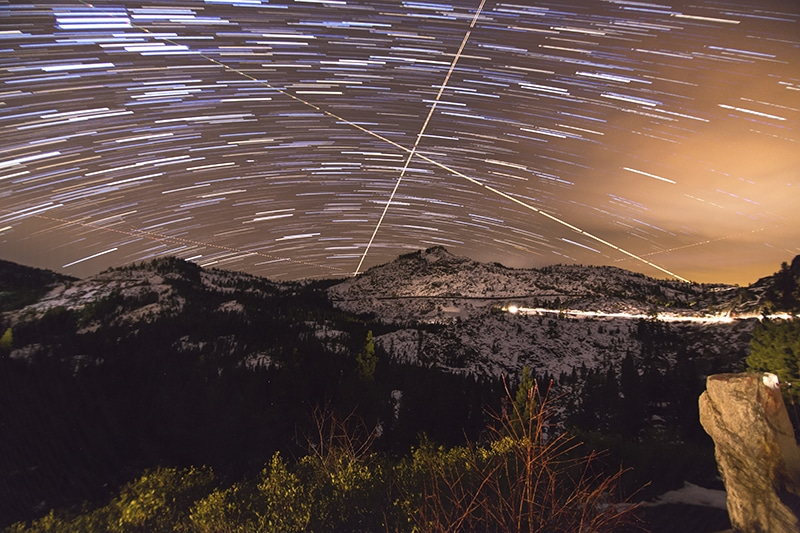 Star Trails- Selecting Layers and Lightening