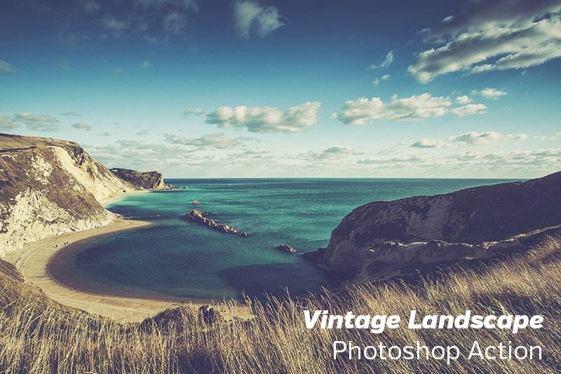 Free Photoshop Action: Vintage Landscape   Loaded Landscapes