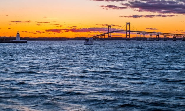 Photographing the Claiborne Pell Bridge (Rhode Island)